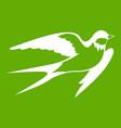 barn swallow icon green vector image