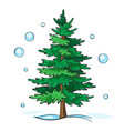 christmas tree is green vector image