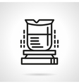Heating flask simple line icon vector image