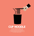 Instant Cup Noodle vector image