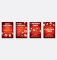 merry christmas party and gift box for flyer vector image