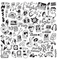 Music - doodles collection vector image