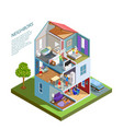 neighbors isometric composition vector image