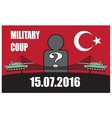 Turkey military coup Tank against the background vector image