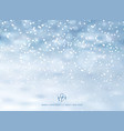 winter background with snow on christmas holiday vector image