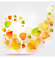 Flying autumn leaves background vector image