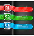 Colorful buttons website style options banner vector image