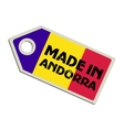 Made in Andorra vector image vector image