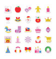 christmas and celebration colored icons 3 vector image