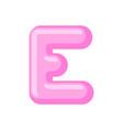 letter e candy font caramel alphabet lollipop vector image