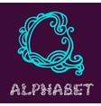 Doodle hand drawn sketch alphabet Letter Q vector image