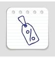 Doodle Tag icon vector image