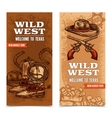 Cawboy Wild West Vertical Banners vector image