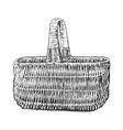 Basket vintage engraved vector image