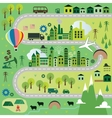 Cartoon map with road vector image