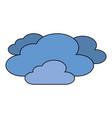 clouds weather sky night scene vector image