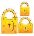 Door lock from gild vector image
