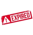 Expired stamp rubber grunge vector image