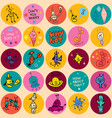 fun cartoon characters seamless pattern vector image