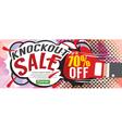 Knockout Sale 1500x600 pixel vector image