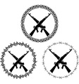 machine guns vector image