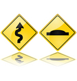 Trouble ahead vector image