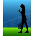 sport background tennis woman vector image