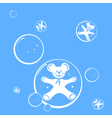 bubbles and mouse vector image vector image