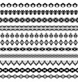 set of geometric black borders in ethnic style vector image