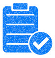 approve list icon grunge watermark vector image