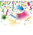 colorful confetti and party ribbons for vector image