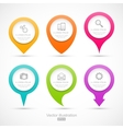 Set of colorful circle pointers vector image vector image