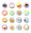 Breakfast Icon Flat Set vector image