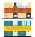 Different kitchen composition Design elements vector image