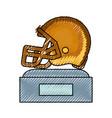 american football trophy design vector image