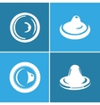 Condom icon set vector image