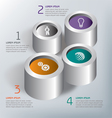 infographic Circles 1234 2 vector image