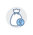 money bag icon bank cash finance fund tax icon vector image