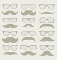 Mustaches set vector image