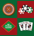 set of poker casino gambling bets money vector image