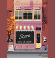 small shop on the old city street vector image