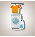 washing machine hang tshirt detergent vector image