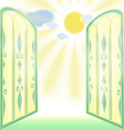 Stained-Glass Open Window vector image