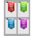 Set of sale or discount labels vector image