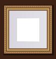 baguette golden frame for design artworks vector image