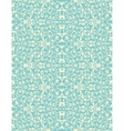 vintage turquoise and beige floral seamless vector image