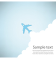 cartoon plane launch vector image