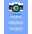 Retro and vintage camera graphic design EPS10 vector image