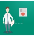 Doctor with a folder in hand vector image