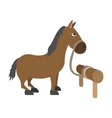 Horse cartoon character vector image